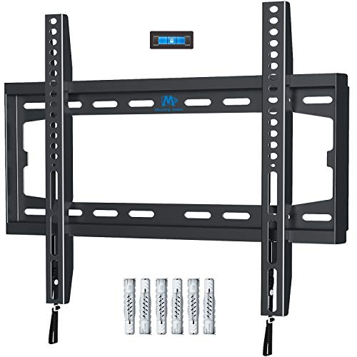 Mounting dream supporto tv parete ultra sottile fisso staffa tv per molti televisori da 26-55 pollici a schermo piatto a led, lcd, oled e plasma con vesa 75x75-400x400mm fino a 45,5kg, md2361-k-02
