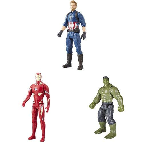 Marvel Infinity War Titan Hero Series - Captain America , Iron Man & Hulk (with Titan Hero Power FX Port)