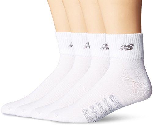 New Balance Unisex 2er-Pack Technical Elite Thin Quarter mit Coolmax Socken, Unisex-Erwachsene Herren, weiß, Medium