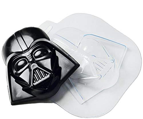 1pc Darth Vader Maske Cyborg-Gesicht Star-Wars-Film-Fan Dunklen Seite Herr Kopf Kunststoff Seifenherstellung Form Geschenk für Sie Für Ihn Form 94x90x20mm