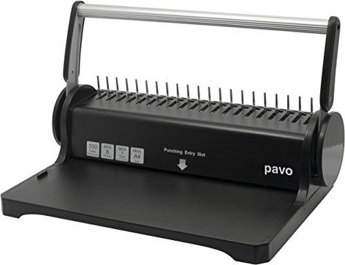 PAVO Smartmaster 2 - Kit de encuadernación (25 cubiertas x espirales), color plateado y negro