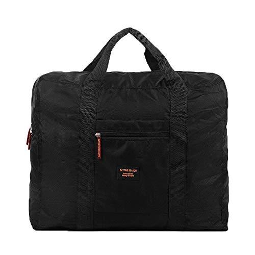Cestval Reisetasche Kleidertasche Wasserdichte Aufbewahrungstasche Nylon Tasche für Reise Große Kapazität Faltbare Bag Storage Wandern Sport Urlaub Outdoor(schwarz)