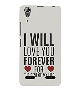 Vizagbeats Love and Life Quote Back Case Cover for Lenovo A6000