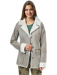 Aeronautica Militare Femmes Veste en cuir Gris PN240D1763-00012