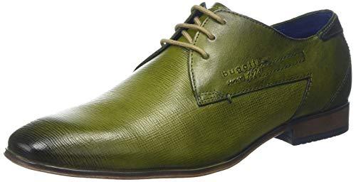 bugatti Herren 311101082100 Derbys, Grün (Green 7000), 42 EU