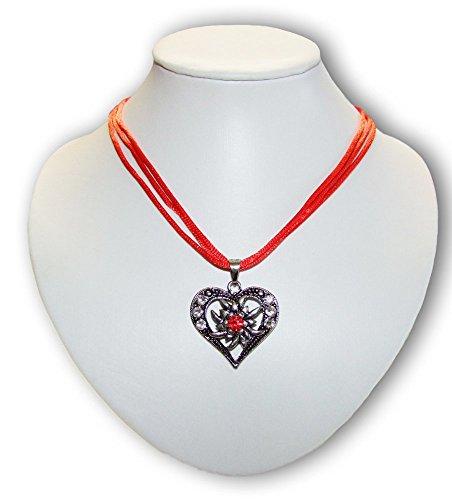Trachtenkette Sira mit Herz Rot