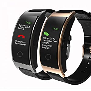 JSGJSH 2018 Intelligentes Armband CK11C Smart Band Blutdruck Pulsmesser Armbanduhr Intelligente Armband Fitness Armband Tracker Schrittzähler Armband