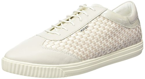 Geox - D Amalthia B, Sneaker Donna Bianco (Blanco (Off White))