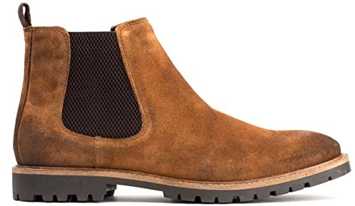 Base London Mens Turret Suede Boots Cognac
