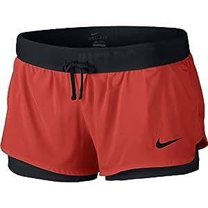 Nike - Full Flex 2-en-1 2.0 -  Short  pour femme - Rouge/noir - Taille: XS