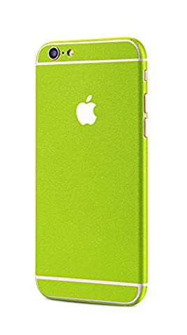 Apple iPhone 6s Plus, iPhone 6 Plus allround Case Shining Dot structure Skin Glamour Sticker in lime green by PhoneStar - Lucido Limone