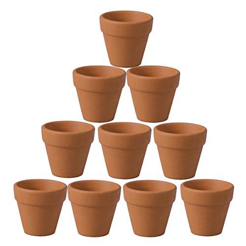 BESTOMZ 10 pezzi Mini Clay Pots 1.6 '' Terracotta Pot Clay ceramica ceramica Fioriera Cactus Flower Pot Succulento vivaio Pentole-Ottimo per piante, artigianato, bomboniera
