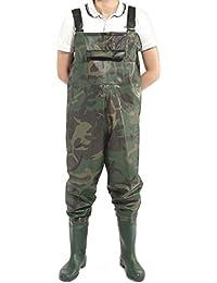 Camouflage Pantalon Cuissard bottes de peche pecheur Etanche pluie vasiere etang