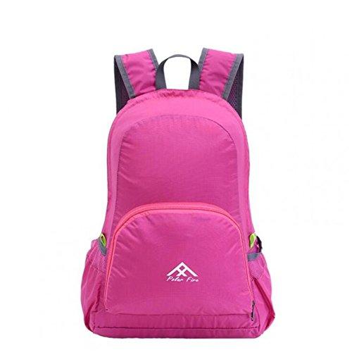 Wmshpeds Pieghevole portatile borsa borse a tracolla femmina zaino outdoor alpinismo borsa pacchetto pelle ultra-light ultra-sottile D