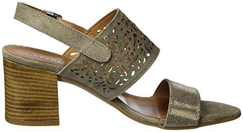 CAFèNOIR Damen Mxl612 Sandale mit Absatz Taupe