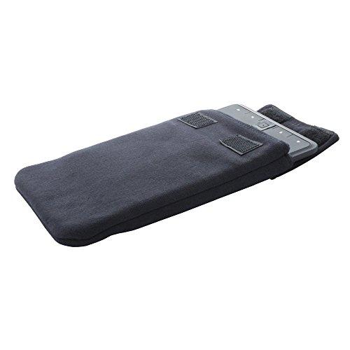 eBook Reader Tasche aus Baumwolle für z.B. pocketBook Touch Lux 2 3 - Tolino Shine Vision 2 3-- Hülle in schwarz
