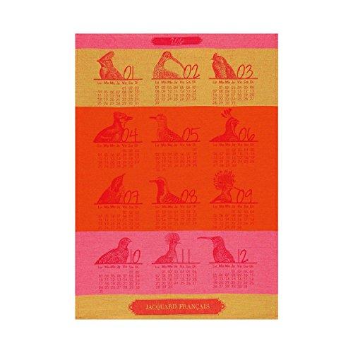 le-jacquard-francais-tea-towel-80-x-60-calendar-2016-rouge-gorge-60-x-80-cm