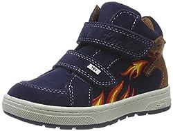 Lurchi Jungen Dino-TEX Hohe Sneaker, Blau (Navy 22), 28 EU