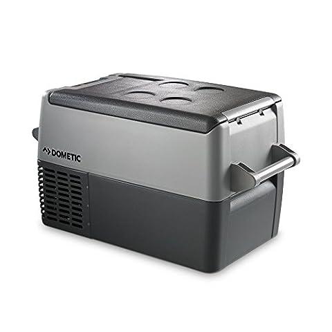 Dometic COOLFREEZE CF 35 - Kompressor-Kühlbox, Gefrier-Box mit 12/24 und 230 Volt Anschluss. Elektrische Kühlbox zum Anschluss im Zigarettenanzünder für PKW / LKW und für die Steckdose, tragbarer Mini-Kühlschrank, ca. 31 Liter, davon 4,5 Liter Frische-Fach, Kühlung von +10 bis -18 °C, A+