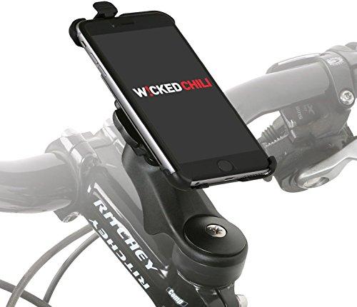 Wicked Chili Fahrradhalter Vorbau / Ahead Halter für Apple iPhone 6s Plus / 6 Plus (MTB / Rennrad, Made in Germany, QuickFix, 20% Carbon) -