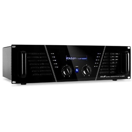 Ibiza Amplificatore amp-1000 pa dj 1600W disco led blu