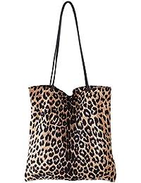 854bb1c7b7724 JAGENIE Damen Leopard Print Handtasche Schulter Damen Geldbörse Messenger  Satchel Einkaufstasche Tasche