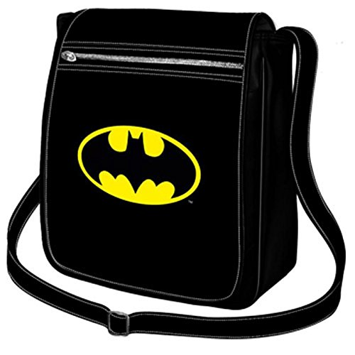 Sac besace rectangulaire à rabat Batman - Logo