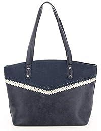 fefbba7f06 Fuchsia - Grand sac porté épaule simili cuir femme Henley (f9808-6) taille