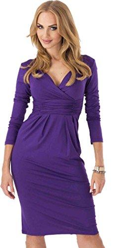 U-shot -  Vestito  - avvolgente - Maniche lunghe  - Donna Purple