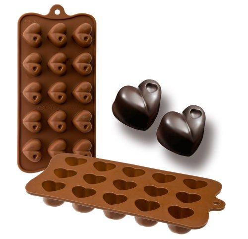 Ibili 860301 - Molde bombón Corazón 15 cavidades 100% silicona