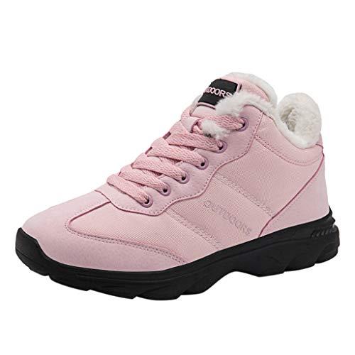 friendGG-scarpa Sportive da Donna in Velluto Antiscivolo per Esterno in Velluto Caldo Sneakers con Lacci alla Moda Casual Scarpe da Escursionismo Sportive Classiche Semplici Resistenti