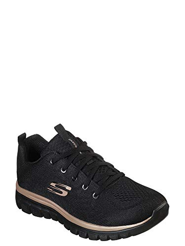 Skechers Sport Womens Graceful Get Connected Sneakers Women Black, tamaño de Zapato:37 EU