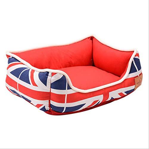 QIQI 90 * 78 * 18 cm Katze Bett Kissen Haustier Matte Heimtierbedarf Transportbox Schlaf Gut Lounge Weiche Bequeme Hundebett (Farbe : Red) -