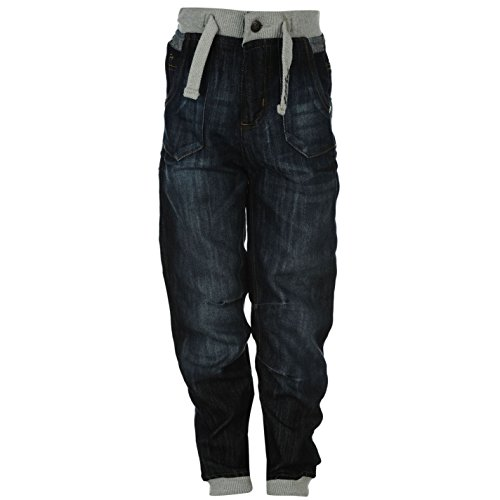 No Fear Kids Jog Jeans Junior Trousers Pants Bottoms Denims 2 Pockets Dark Wash 9-10 (MB)