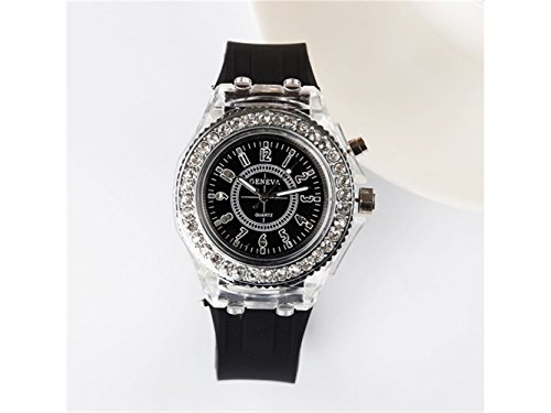 ADream Geneva Orologio Luminoso in Silicone LED colorato Harajuku Watch
