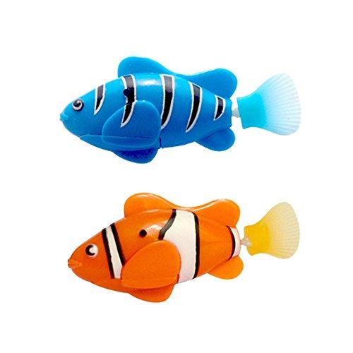 Homim Kinder Spielzeug Aktivierte Lebensechte Elektronische Mini Roboter Schwimmen Fische für Jungs und Mädchen Schwimmbad (Roboter-fisch)