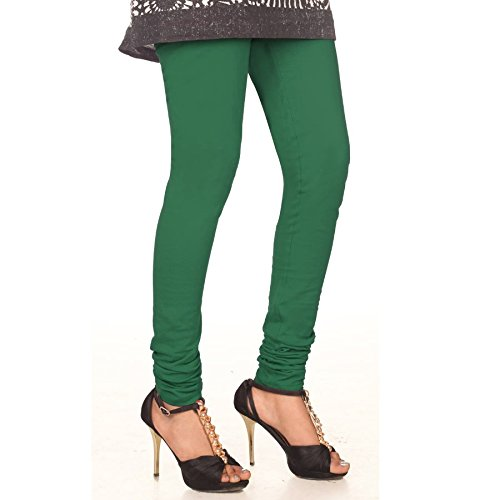 ZpluesX Cotton Lycra Comfortable Leggings for Women (Green, XXL)  available at amazon for Rs.249