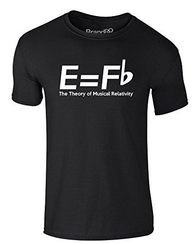 Brand88 - The Theory Of Musical Relativity, Erwachsene Gedrucktes T-Shirt Schwarz/Weiß