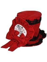 Gothic Lolita dark romantic Mini Hut Facinator Alice im Wunderland schwarz weiss Dark-Desires