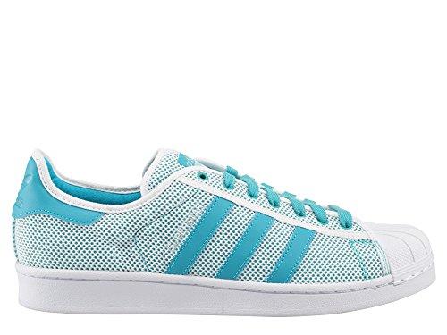 ADIDAS Chaussures SUPERSTAR ADICOLOR - Blanc turquoise blanc