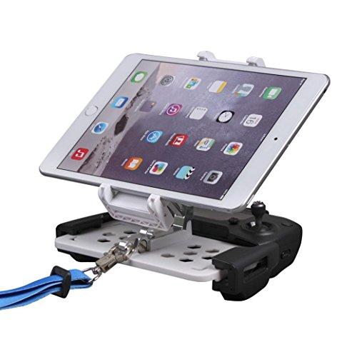Hunpta Telefon flache Halterung 4-12 Zoll Fernbedienungshalter Teile für DJI Mavic Pro Drohne (Weiß) -
