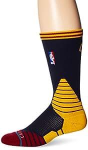 Stance Chaussettes Cavs NBA Logo sur cour, noir–Chaussettes de Cleveland Cavaliers de basket-ball pour homme -  noir -  M (38-42)