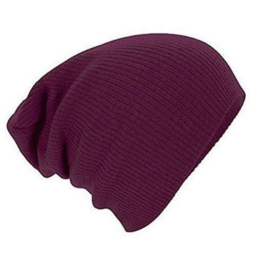 Strickwolle Warm-Hut - iParaAiluRy Unisex Modisch weiche, lässige Mütze Schützen Sie Ihre Ohren Beanie Hut im Winter und Frühjahr