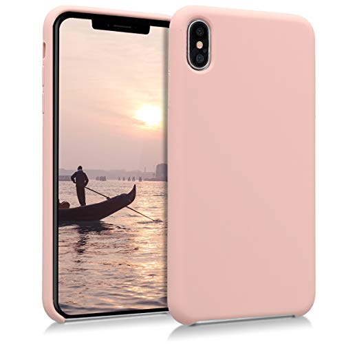kwmobile Apple iPhone XS Max Hülle - Handyhülle für Apple iPhone XS Max - Handy Case in Altrosa
