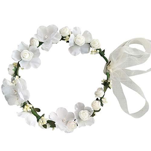 CDE Boho Trompetenärmel Kurze Kinder Spitzenkleid/Chic A-Linie Kommunionkleider Brautjungfern Kleider Blumenmädchenkleider für Mädchen 2-12 Jahre -