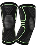 Alliance Network - Knee Support for Running,Stylish Knee Brace for Gym Fitness & Knee Cap Accessorise for Both Men and Women, Knee Brace Black & Neon (1 Pair)