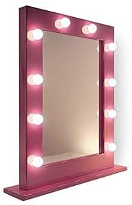 Miroir pour maquillage et loge de th tre rose k153led for Miroir loge de star