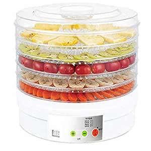 VDNSI Dehydrator for Food Fruit - Electric Food Saver Fruit Dehydrator Preserver Dry Fruit Dehydration Machine with 5 Stackable Tray Pack of 1
