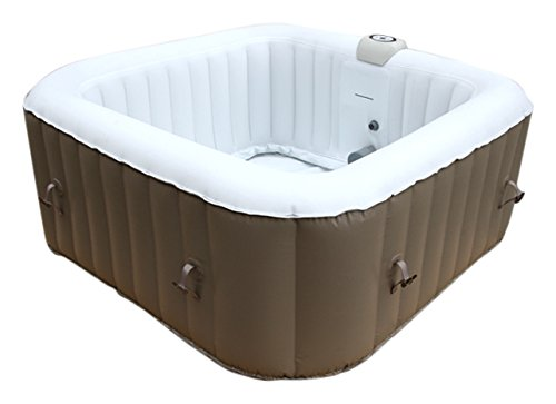 aquaparx whirlpool ap 600spa jacuzzi carr 155 x 155 cm 4 personnes bassin gonflable. Black Bedroom Furniture Sets. Home Design Ideas