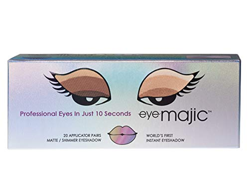 """Eye Majic Instant Eyeshadow – Easy Professional Makeup in 10 Seconds, 20 Pack, 4 Colour Multipack - """"Nude Wonder"""""""